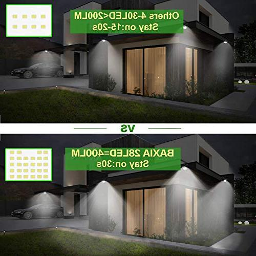 BAXIA TECHNOLOGY Outdoor,Wireless Motion Security Lights for Yard,Fence,Garage,Garden,Driveway