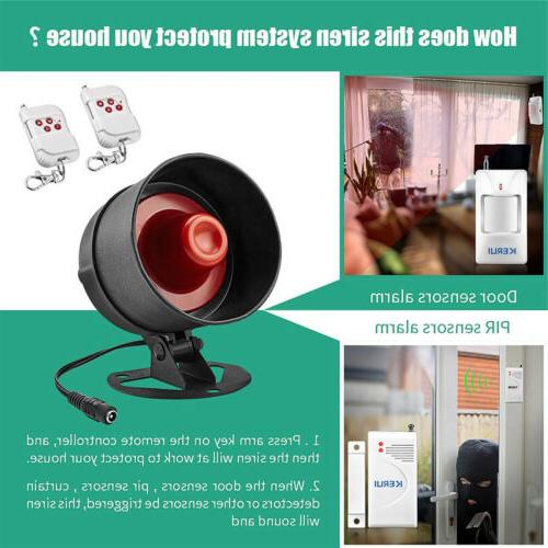 Standalone Office Security Alarm System Motion 100dB