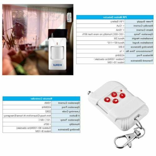 Standalone Security Alarm System with Motion 100dB