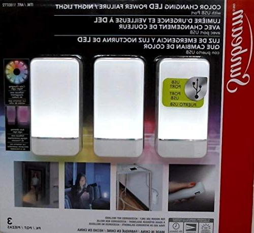 Sunbeam SunbeamLed3pk SunbeamLedLight Night Light 3 Pk, Whit