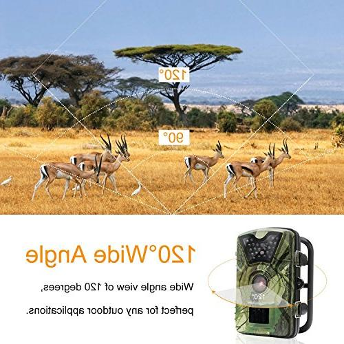 Trail Camera, HD 12MP Infrared Vision 0.5s Trigger Weatherproof Wildlife