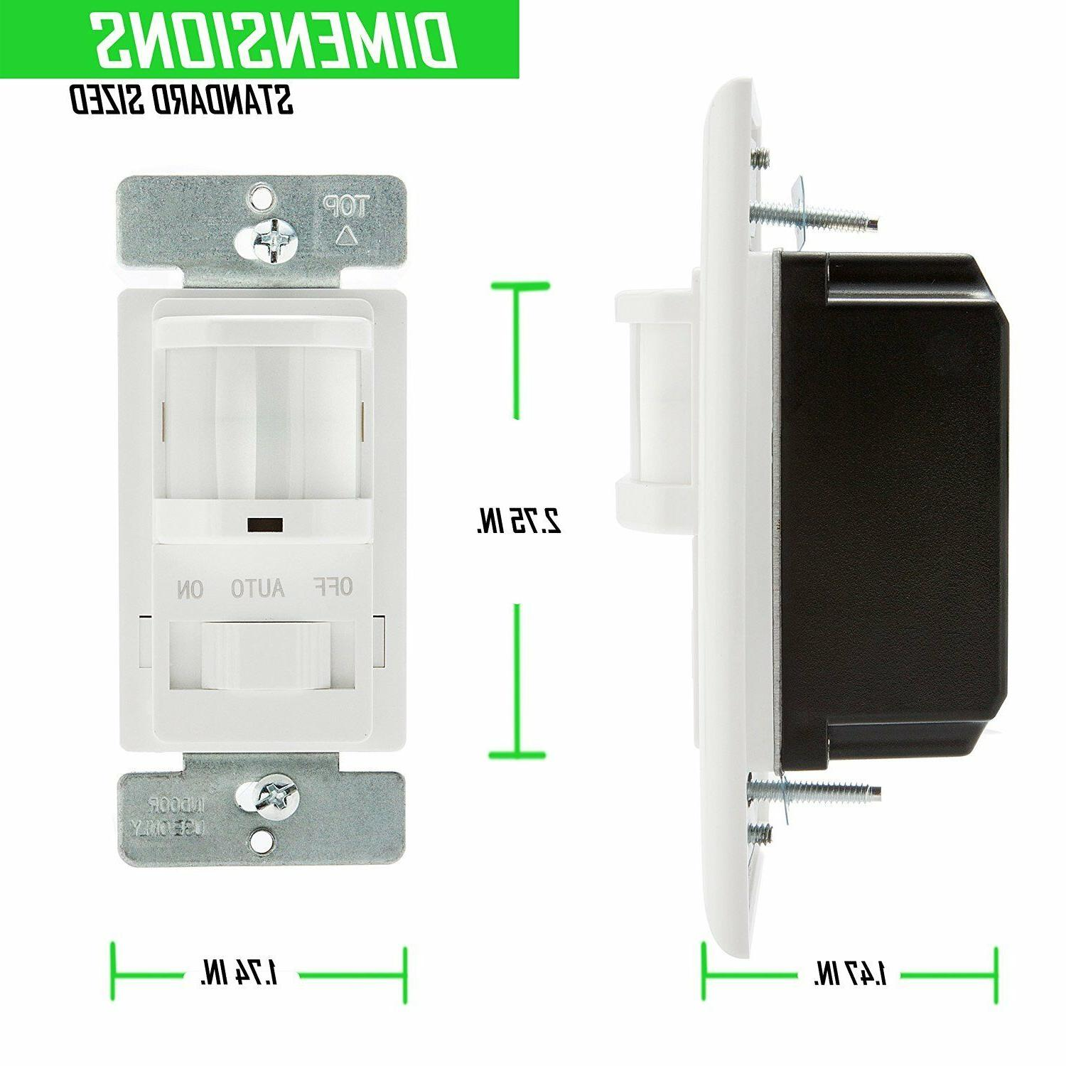 TOPGREENER PIR Motion Light Switch Occupancy 1-Pole TSOS5