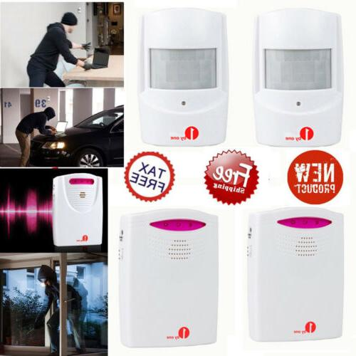twin wireless driveway alarms alert system outdoor