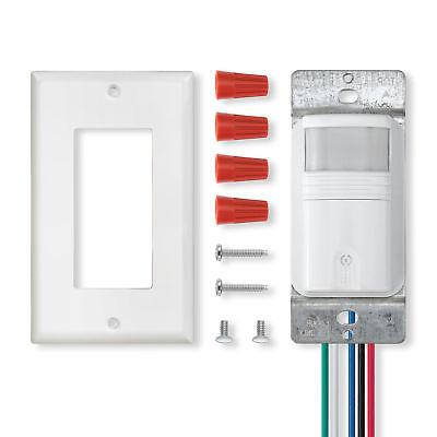 White Motion Sensor Light Switch Timer UL Certified