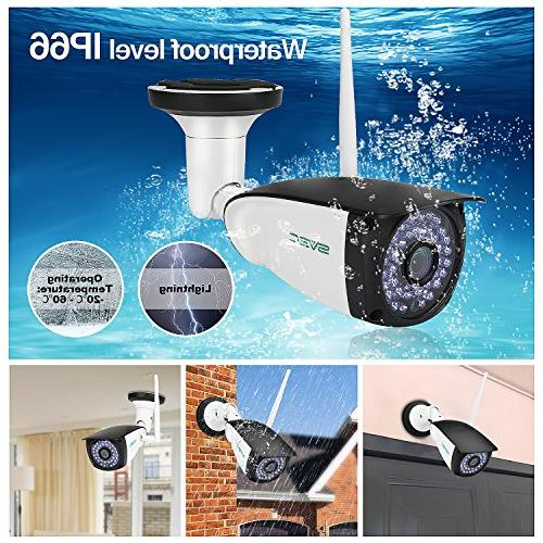WiFi Outdoor, Night IP Motion Camera, Remote View Waterproof Cameras Indoor Support Max 128GB Card