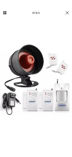 Wireless Alarm System For Home Siren Security With Motion Se
