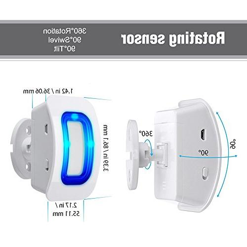 PHYSEN Wireless Door Sensor Alarm,Door Detect Alert, Home Door Entry 1 1 Receiver,400ft Volume Indicators
