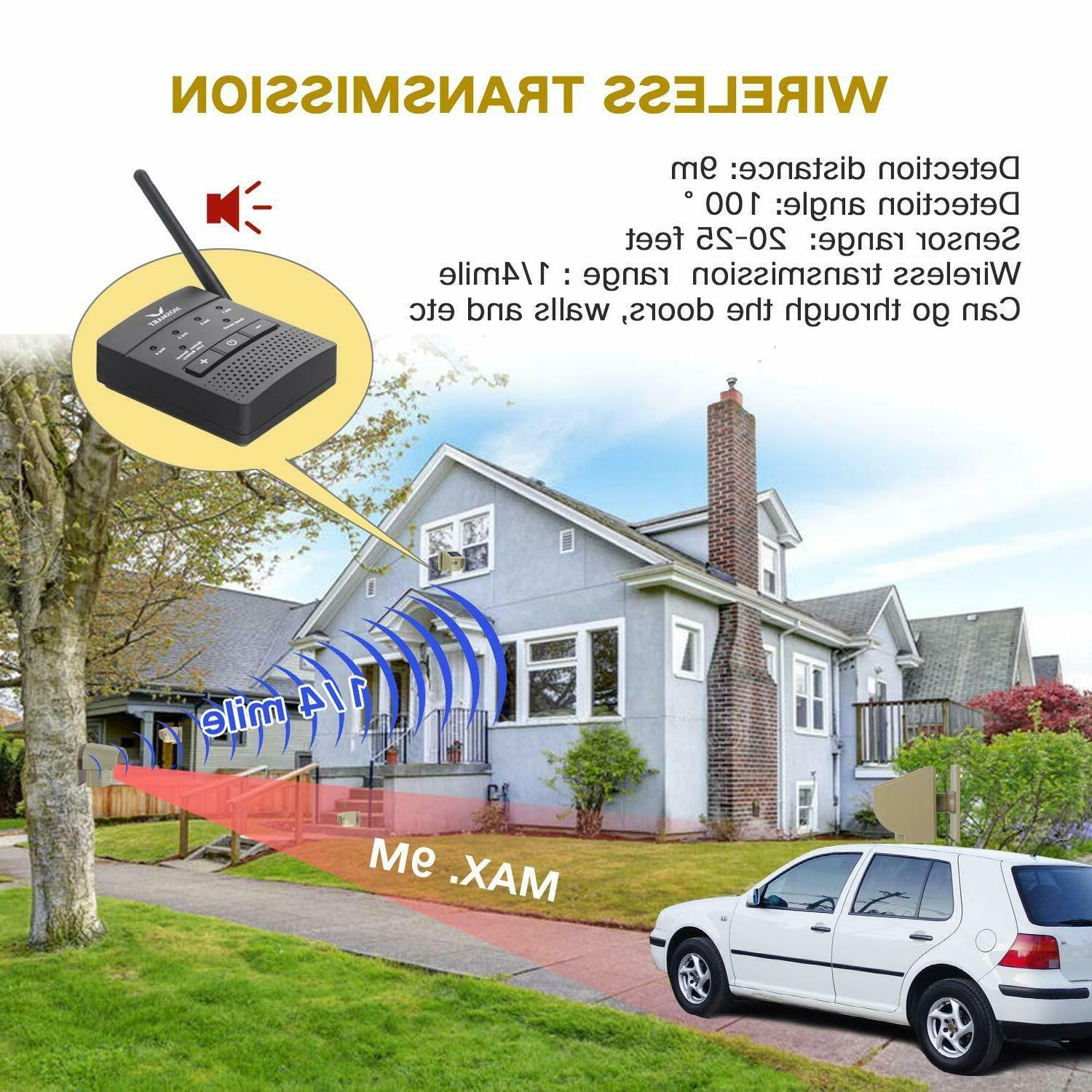 Wireless Driveway Alarm System Security Motion Detector