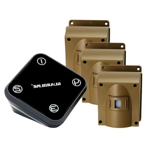 wireless driveway alarm w three