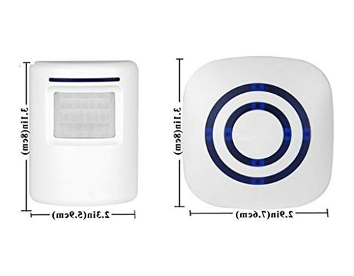 Wireless Home Alarm, Enegg Visitor Door with 1 Plug-in and Sensor Alert Quality Sound and 38