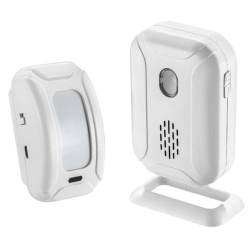 Wireless PIR Motion 2x Sensors Detector Alarm Door Chime For