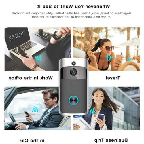 Wireless Smart WiFi DoorBell IR Intercom Security
