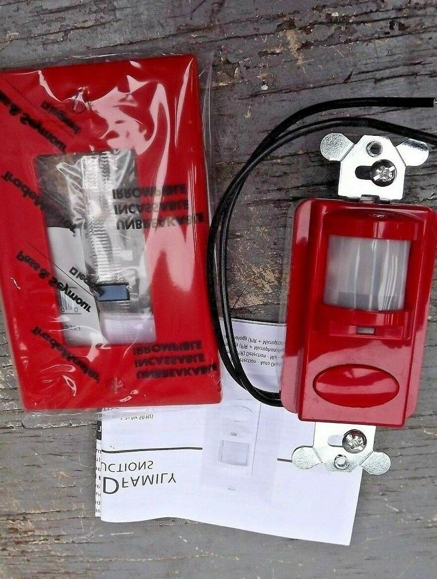 wsd rd motion detector switch red w