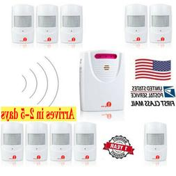 1byone LED 328ft Wireless Driveway Alarm System Motion Detec