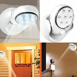 LED Adjustable Motion Light Activated Sensor Indoor Outdoor