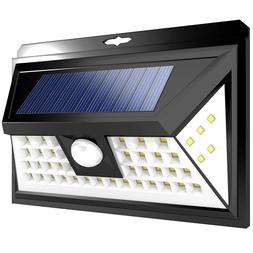 LED RV Motion Sensor Solar Exterior Porch Utility Light Fixt