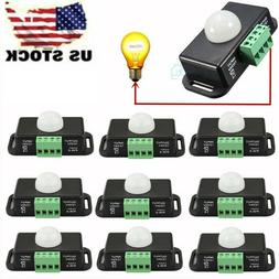 12V-24V Body Auto Infrared PIR Motion Sensor Switch For LED