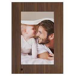 NIX Lux Digital Photo Frame 10 inch X10J, Wood. Electronic P