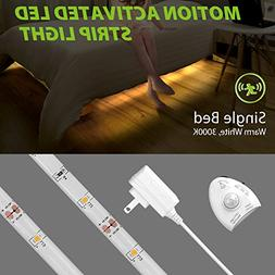 Megulla Motion Activated Bed Lighting, Flexible LED Strip Mo