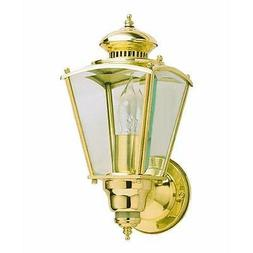 Motion Activated Four-Sided Charleston Coach Light in Polish
