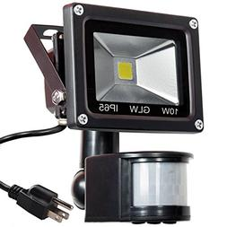 GLW 10W LED Motion Sensor Flood Light IP65 Waterproof Outdoo