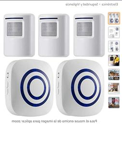 WJLING Motion Sensor Alarm, Wireless Driveway Alarm, Home Se