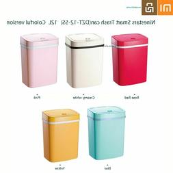 Motion Sensor Auto Sealing LED Induction Waste Bin Container