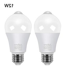Motion Sensor Light Bulbs, Aukora 12W  E26 Motion Activated