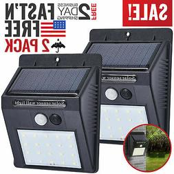 motion sensor lights solar activated outdoor security