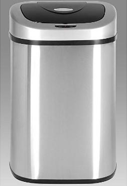 Motion Sensor Trash Can Automatic Open Hands Free Stainless
