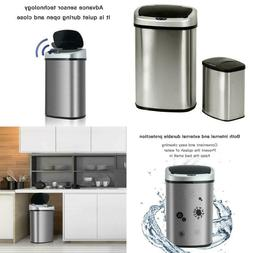 Motion Sensor Trash Can Garbage Waste Bin Touch Free Kitchen