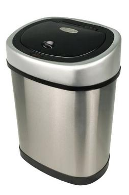 Nine Stars 3.2 Gallon Stainless Steel Infrared Trash Can