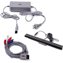 HDE Accessory Pack for Nintendo Wii AC Power Adapter Block C