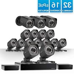 Zmodo 32 Channel 720P HD NVR Security System 16 x IP HD Outd