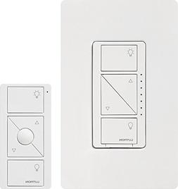 Lutron P-PKG1W-WH-R 120V Smart Lighting Dimmer Switch And Re
