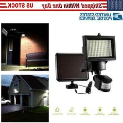 100 LED PIR Motion Sensor Solar Floodlight Outside Outdoor G