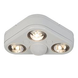 All-Pro Revolve 270° Triple Head White Outdoor Motion Sensi