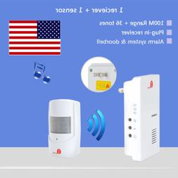 Security Infrared Driveway Wireless Motion Outdoor Alarm Sen