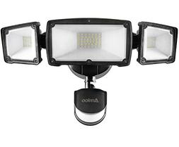 Amico 39W 3-Head LED Security Lights Motion Outdoor, Motion