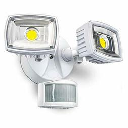Home Zone ES00730U Security LED Motion Sensor Flood Lights O