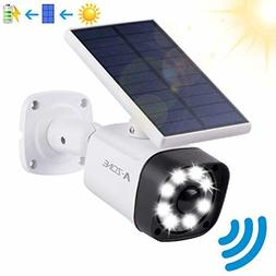 Solar Motion Sensor Light Outdoor - 800Lumens 8 LED Spotligh