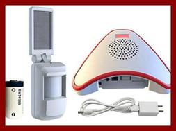 Solar Wireless Indoor Motion Alarm System No Need Replace Th