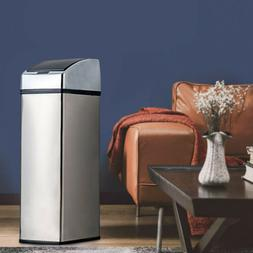 Stainless Steel Automatic Touch Free Sensor Trash Can Hands