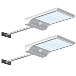 Pack of 2 LED Street Solar Power Light Outdoor Waterproof Ga