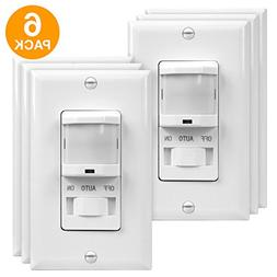 TOPGREENER TSOS5-W-6PCS PIR Sensor Switch, Occupancy Sensor
