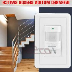 US Body Infrared Motion Sensor Switch Detector Wall Mount LE
