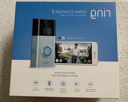 Ring Video Doorbell 2 - 1080 HD WiFi BRAND NEW Factory Seale