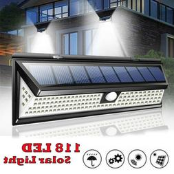 Waterproof 118 LED Solar Lamp Outdoor Garden Yard PIR Motion