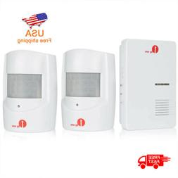 Wireless 2Motion Sensor Alarm Security Detector Indoor Outdo