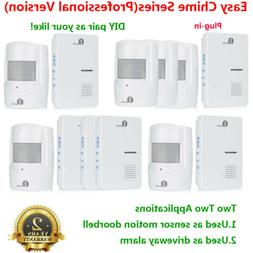 1byone 5X Wireless 1000ft Long Range Alert Driveway Alarm Sy